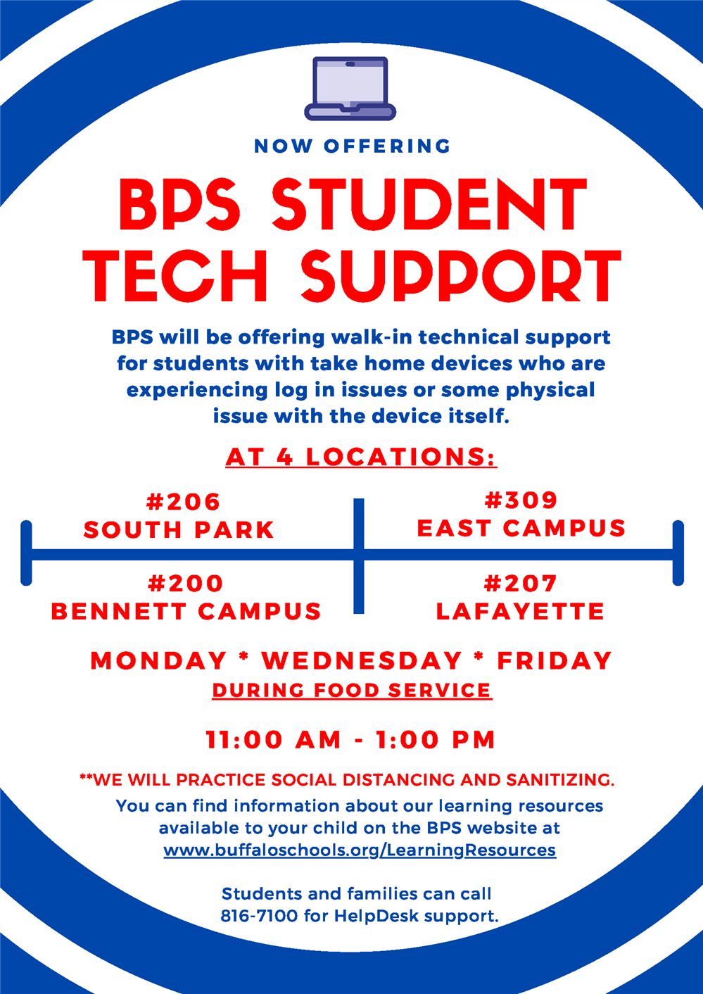 Student Tech Support Available