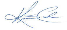 Kriner Cash's signature