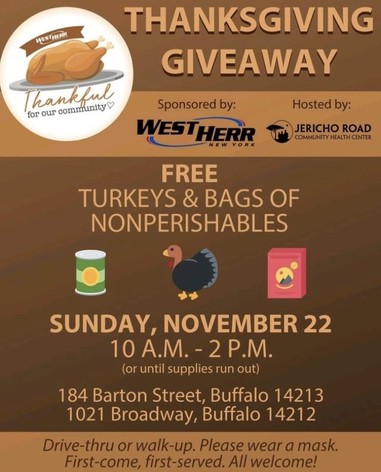 Free Food for Thanksgiving
