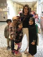 Mrs. Rudyk with students
