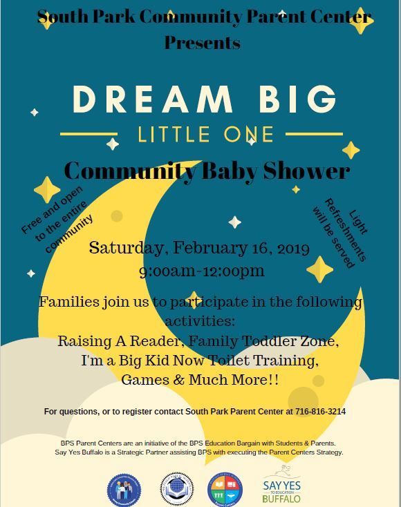 South Park Community Parent Center Presents: Community Baby Shower