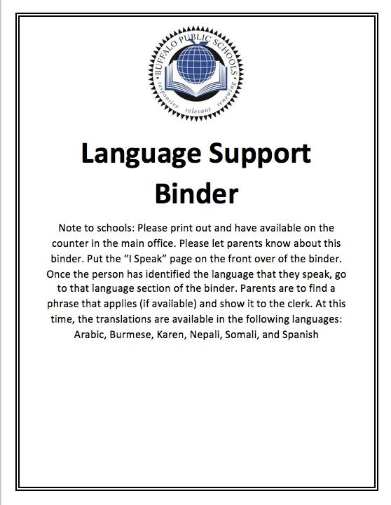 Language Support Binder