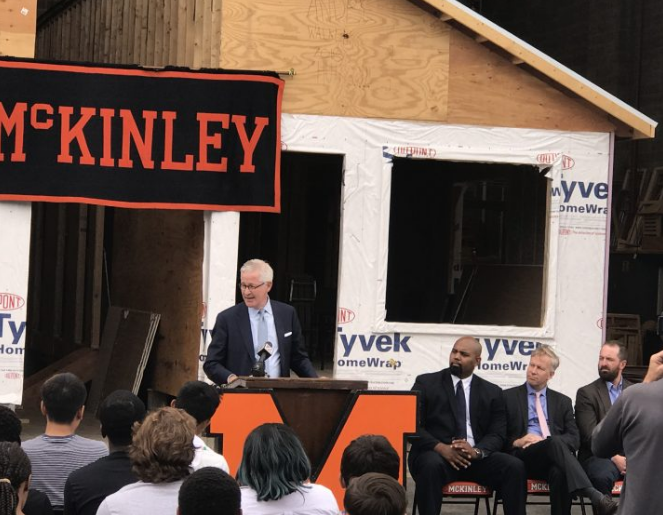 HSBC donates $10,000 for student construction training program at McKinley HS