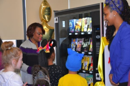 Arthur O. Eve School of Distinction Unveils a Book Vending Machine