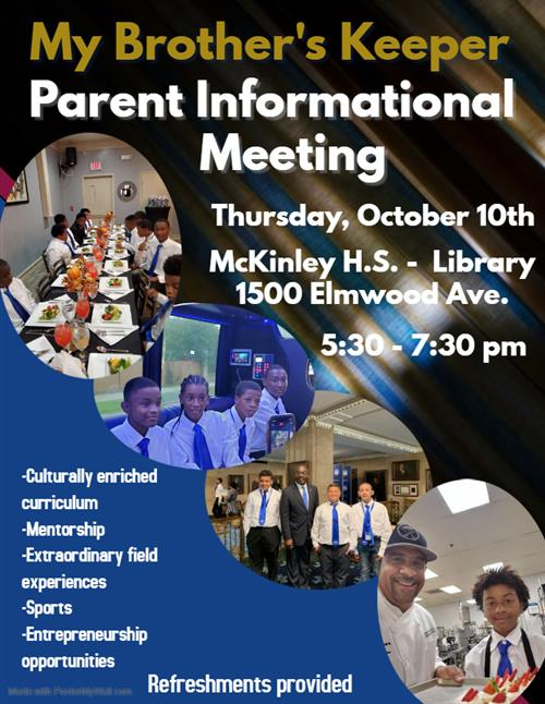 My Brother's Keeper Parent Informational Meeting Flyer