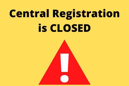Central Registration will be closed for Winter Break