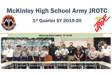 McKinley HS JROTC Members