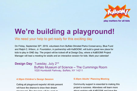 Help Design a New Playground! Design Day July 2nd