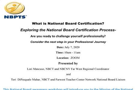 Exploring the National Board Certification Process