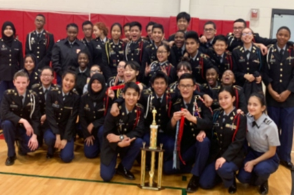 McKinley JROTC Takes First Place in Drill Competition