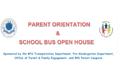 Parent Orientation and School Bus Open House