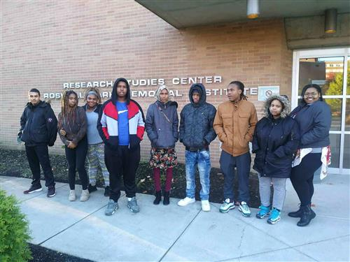 Riverside CTE students attend Roswell Park Mentoring Day