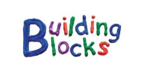 Building Blocks logo in multi color letters