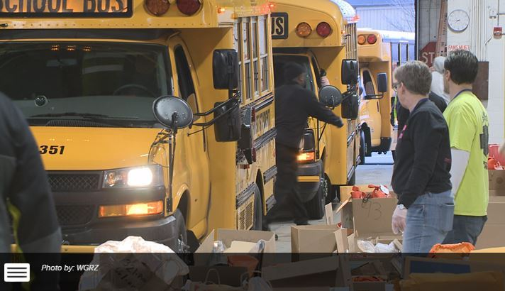 Buffalo Public Schools deliver schoolwork to students at home: