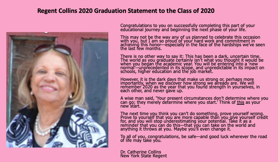 letter to class of 2020